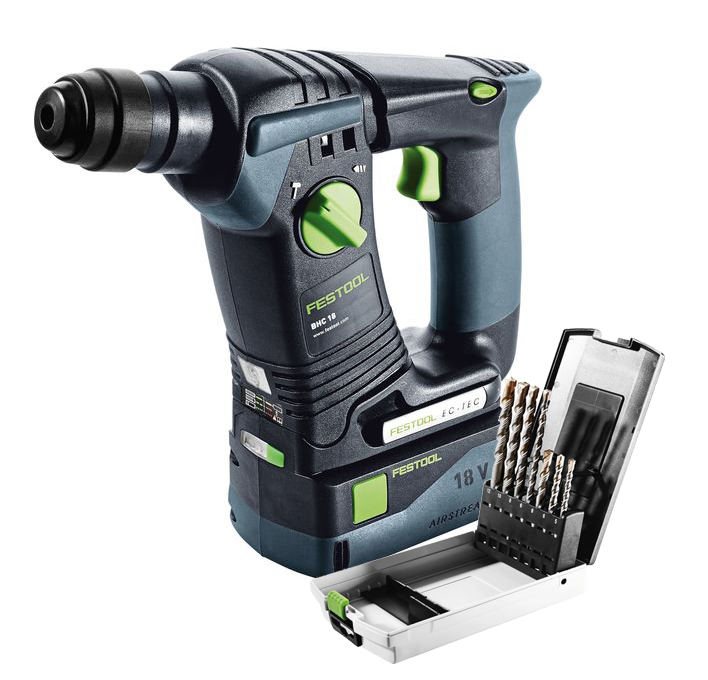 festool bhc 18 18v cordless sds hammer drill brighton tools and fixings. Black Bedroom Furniture Sets. Home Design Ideas